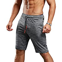 Gerlobal Men's Bodybuilding Gym Running Workout Shorts Active Training Shorts