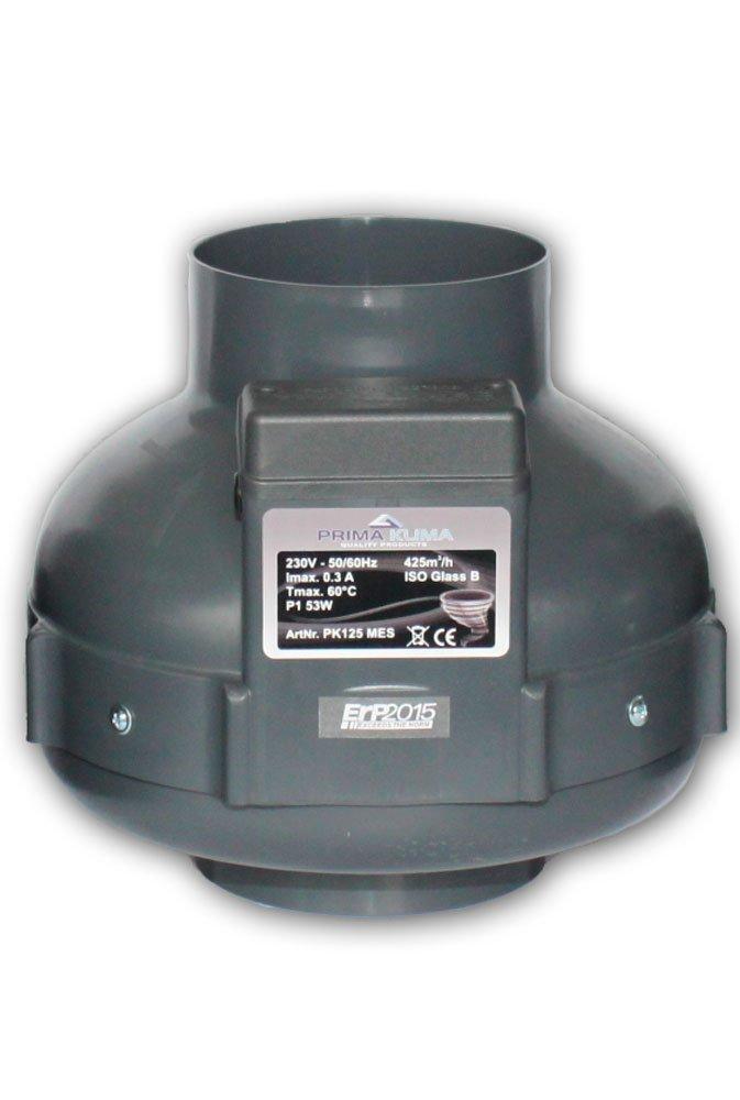Prima Klima 425m³/h Rohrventilator 125mm Anschluß One Speed [Energieklasse B]