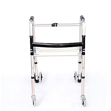 Sm&zsj Zes-Aleación de Aluminio Grueso Walker Mayor con discapacidad con baño Taburete muletas Marco