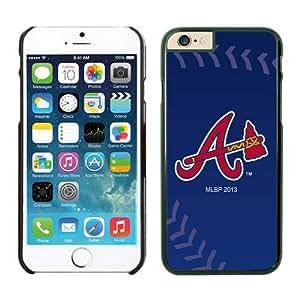 LarryToliver DIY unique Case Team Baseball Atlanta Braves for iPhone 6 Cases Black with 4.7 inch