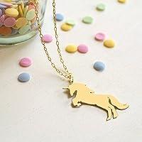 Collar de unicornio dorado personalizado