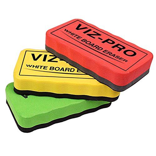- VIZ-PRO Magnetic White Board Eraser, 3 Colored Eraser, 3 Piece