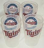 Minnesota Twins MLB 16oz Plastic Tumbler Set of 4 - BPA FREE!