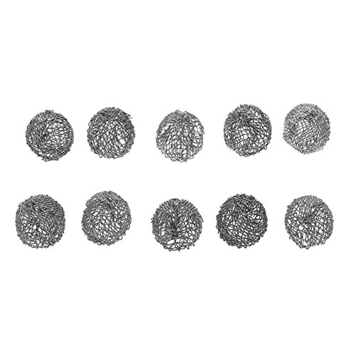 dophee 10Pcs Tobacco Pipe Silver Screen Metal Ball Filter Combustion 17mm Durable Tool ()