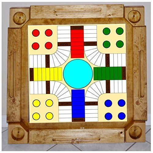 Wooden/wood Dominoes/domino Table/mesa Custom Made  Parcheesi Game Artwork