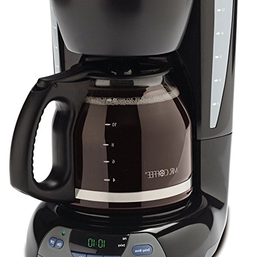 Mr. Coffee Simple Brew 12-Cup Coffee Maker, Black