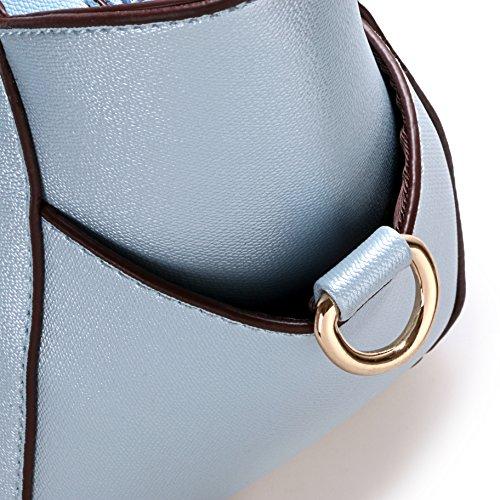 Cat Body Satchel Blue Sky Shoulder Lips Tote EPLAZA Smiling Handbag Girls Cross Women Bag 6qXtgxE