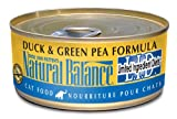 Natural Balance Canned Cat Food, Limited Ingredient Duck and Green Pea Recipe, 24 x 6 Ounce Pack, My Pet Supplies