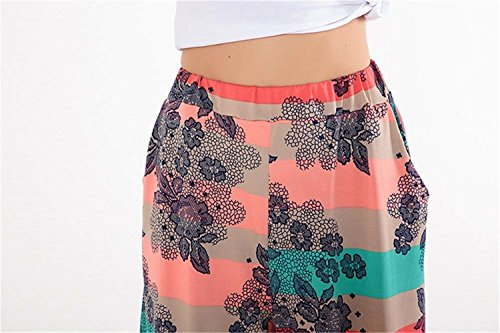 Donna Dei Pantaloni Estivi Colour 7 Tempo Libero Tasche Alta Due Elasticachic Stampato Giovane Emmala Con 8 Vita Jogging Harem 8 fqx5OfA