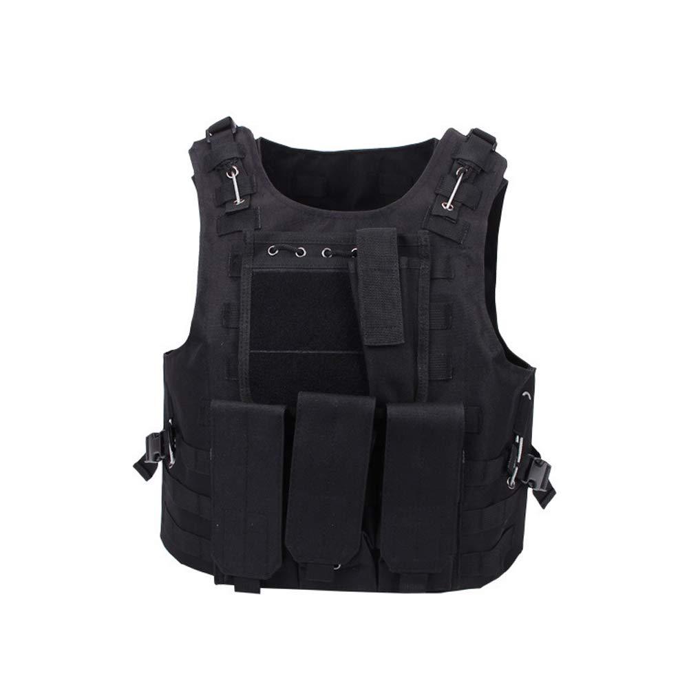 LXY&AI Cs Tactical Vest - Multifunktionale Taktische Schutzweste - Outdoor Ultraleichte Atmungsaktive Combat Trainingsweste - Einstellbare Größe Tactical Field Vest - Schwarz