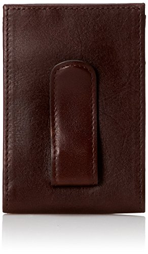 Johnston & Murphy Two Fold Money Clip (Dark Brown)