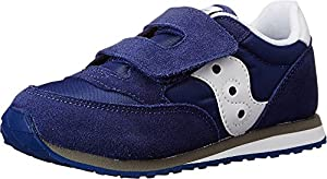 Saucony Boy's BABY JAZZ HL Shoe, BLUE, 6.5 Wide US Toddler