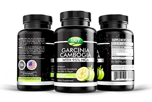 100% Pure Garcinia Cambrogia 95% HCA, 120 Caps, 2 Month Supply, Appetite Suppressant, for Men/Women, Easily Lose Weight, Keto Friendly, Organic, All Natural Weight Loss (Cap Weight Loss Appetite Suppressant)