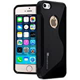 iPhone SE Case, GreatShield Guardian Series Slim Fit S-Line Design TPU Case for Apple iPhone SE / 5S / 5 (Black)