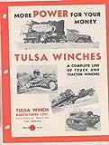 1937 International Ford Mack Truck & Crawler Tractor Tulsa Winch Brochure