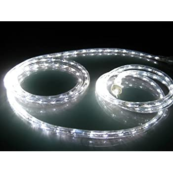 Amazon 18ft rope lights pure white led rope light kit 10 18ft rope lights pure white led rope light kit 10 led spacing mozeypictures Images