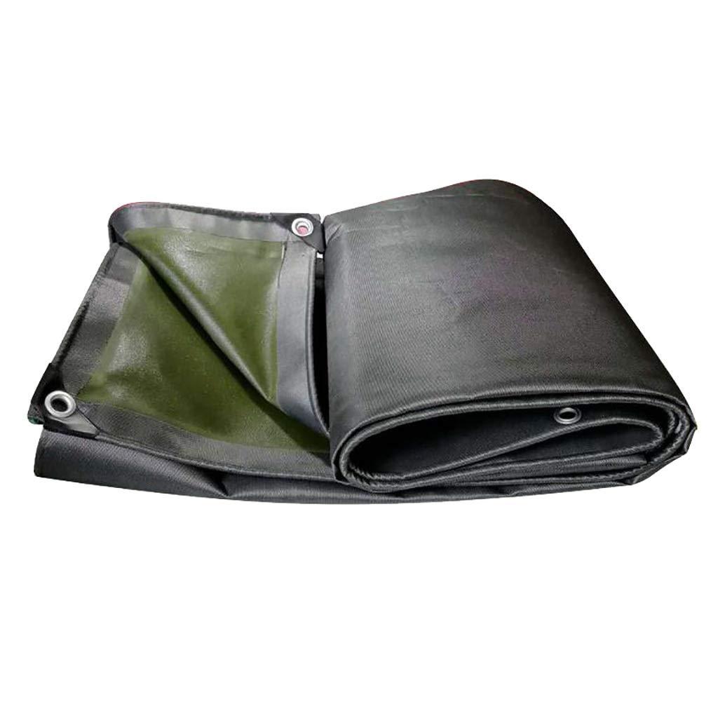 ターポリン 片面ゴムキャンバス防雨耐摩耗性防水ヴァンレインカバー-530g / m 2、厚さ:0.7 mm (Size : 2m*7m) B07SY8J4MW  2m*7m