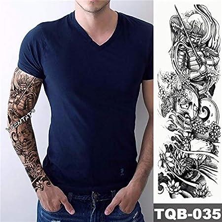 Tatuaje de brazo grande Manga de dragón Buda Prajna Impermeable ...