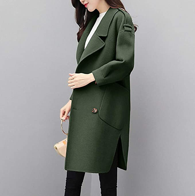 Women Coats, Fashion Ladies Winter Lapel Wool Coat Long Trench Jacket Pea Coats Parka Overcoat Outwear at Amazon Womens Coats Shop