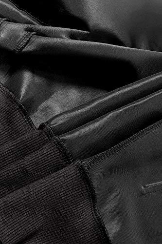 Black Giacche Manica Cappotto Fasumava Piena Primavera Le Lunga Autunno Donne Cerniera Una Solido WW6qORB1