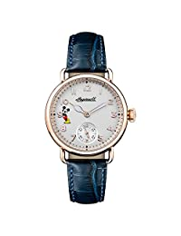 Ingersoll Women's Quartz Stainless Steel and Leather Casual Watch, Color:Blue (Model: ID00103)
