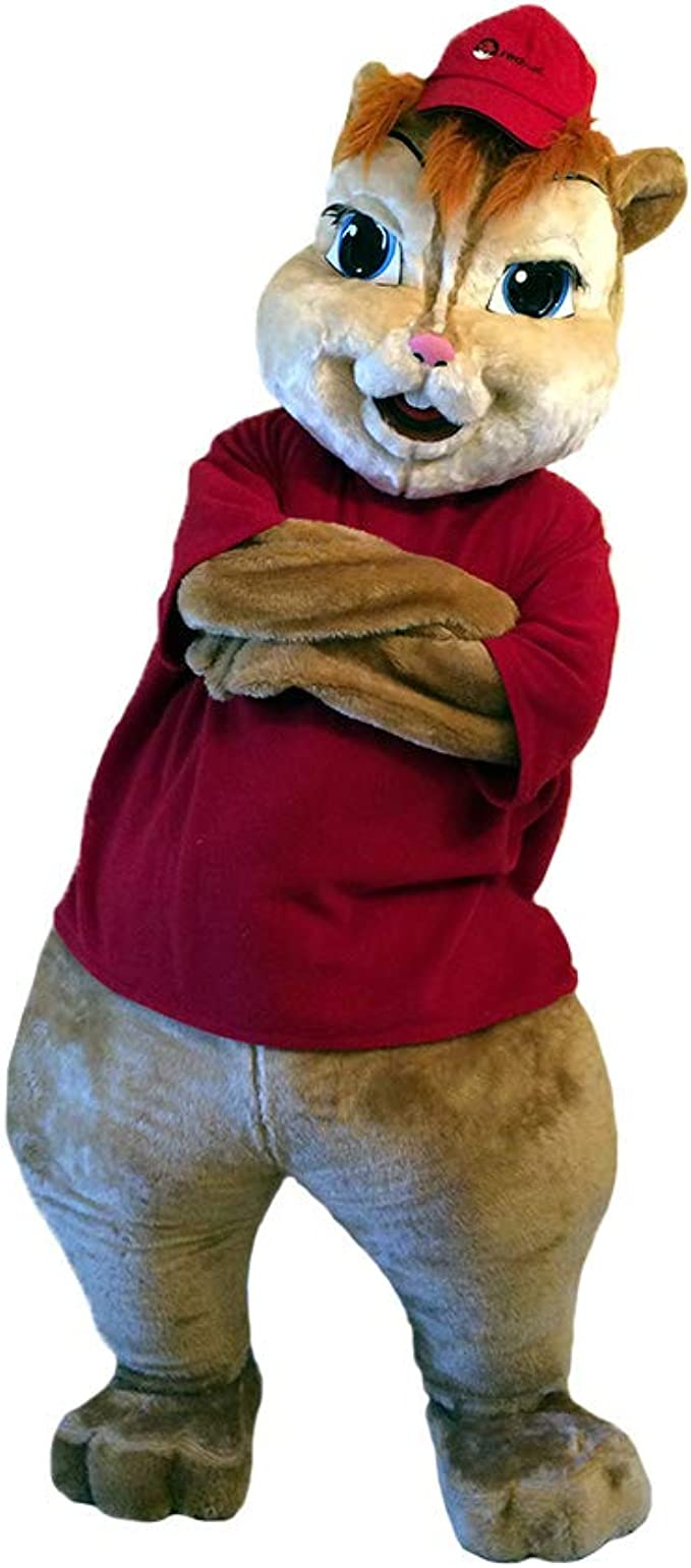 Amazon Com Alvin And The Chipmunks Mascot Costume Character Cosplay Party Birthday Halloween Brown Clothing