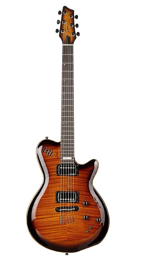 Godin lgx-sa sólido cuerpo 3-voice guitarra eléctrica (coñac ráfaga AAA)