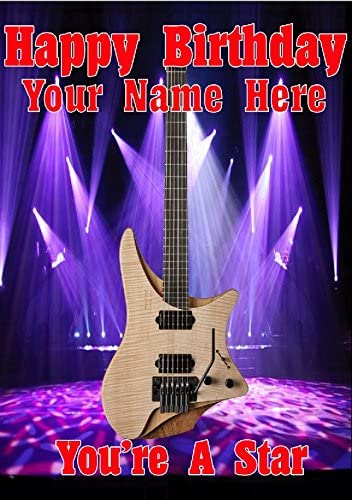 Guitarra Sin Cabeza cptmi10 personalizado tarjeta de felicitación ...