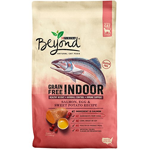 Purina Beyond Indoor Grain Free Salmon, Egg & Sweet Potato Recipe Adult Dry Cat Food - 3 lb. Bag