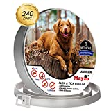 Dog Flea Treatment Collar - Tick & flea control for dogs,8 Months Pest Control collar for dog,Safety&Waterproof Tick Repellent and Treatment for Dogs,One Size Fits ALL, flea collar for dogs.