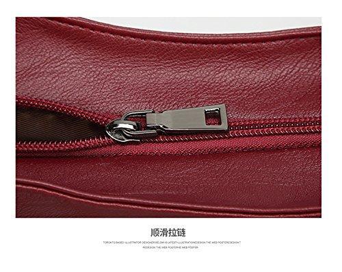 Bag Cuero Para Tote Onesize Hombro Satchel Mujer Size Naranja Pu De Bolsos color Rojo Diseñador Gby xfa1Y