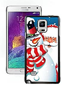 Provide Personalized Customized Santa Claus Black Samsung Galaxy Note 4 Case 12