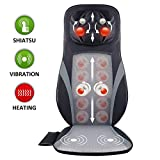 SNAILAX Shiatsu Back and Neck Massager –Shiatsu Massage Seat Cushion with Heat, Kneading Massage Chair Pad with Adjustable Intensity, Muscle Pain Relief for Back, Shoulder & Neck Waist Hips