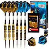 Ignat Games Steel Tip Darts - Professional Darts Set with Aluminum Shafts Flights + Dart Sharpener + Innovative Case