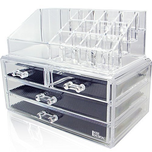 Ikee Design Acrylic Jewelry & Cosmetic Storage Display Boxes Two Pieces Set. - bedroomdesign.us