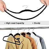 Yaheetech Non Slip Black Suit Hangers - Clothes Hanger,100pack