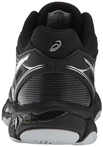ASICS Women's Gel Netburner Ballistic MT Volleyball Shoe, Black/Silver, 7 M US by ASICS (Image #2)