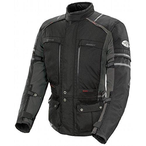 Joe Rocket Ballistic Adventure Men's Textile Touring Motorcycle Jacket (Black/Gunmetal, (Adventure Textile Jacket)