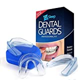 #9: Premium Mouth Guard - Teeth Grinding Solution - Stops Bruxism, Clenching And TMJ - Tooth Pain Relief Dental Night Guard - Molding & Custom Fitting Instructions, Pack of 3 And Anti-Bacterial Case