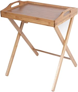 Folding Wood Portable Tray Table Stand TV Dinner Craft Snack Laptop Servicing