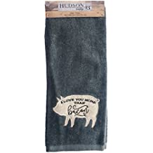 """I Love You More Than Bacon Kitchen Hand Towel 16"""" x 28"""""""