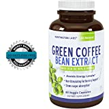 Pure Green Coffee Bean Extract for Weight Loss Pills - Dietary Supplement to Burn Fat Curb Appetite and Boost Metabolism for Men and Women - Contains Antioxidants to Detox and Cleanse - 800mg Capsules