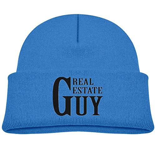 (Real Estate Guy Soft Unisex Children Knit Hats Warm Kids Beanies CapsBlue)