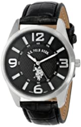 U.S. Polo Assn. Classic Men's USC50010 Silver-Tone Watch with Leather Band