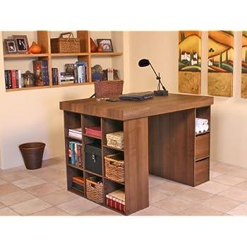 Venture Horizon Project Center With 1 Bookcase U0026 3 Bin Cabinet White