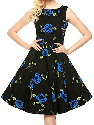 Carol Sel Nice Women Fashion Slim Fit Plus Size Flower Print Party Sundress 1X-Small