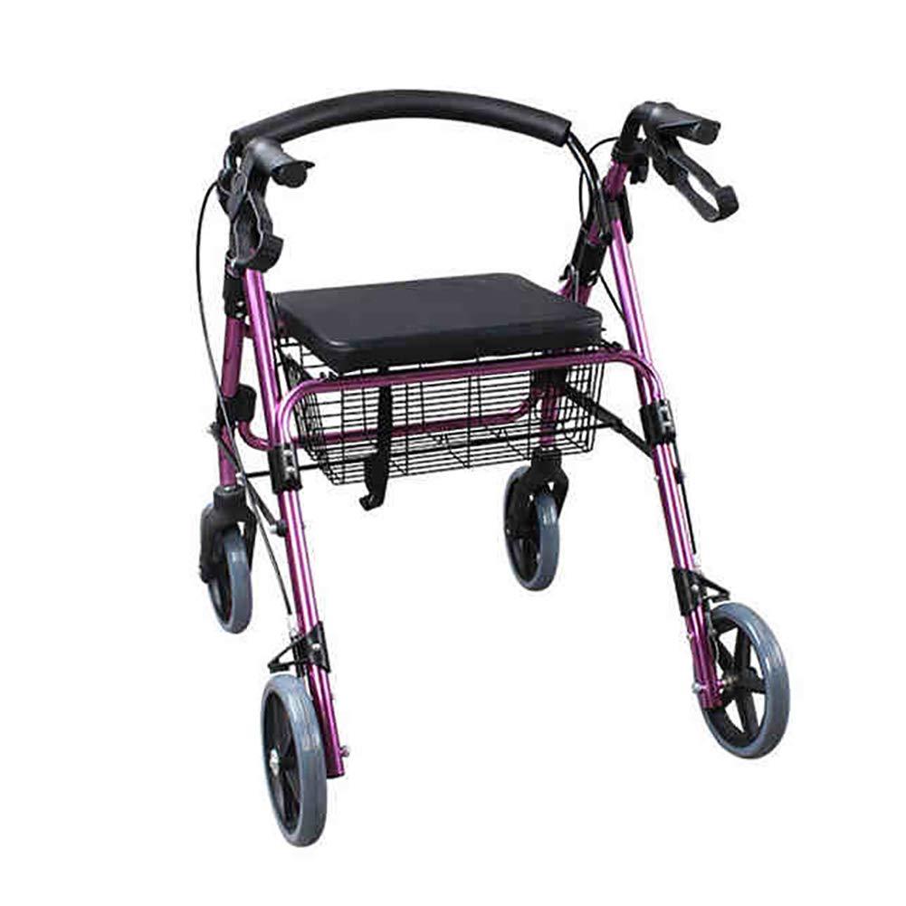 大きな取引 歩行器ドライブ医療用アルミ合金四輪ローラー、取り外し可能背もたれ、パッド入りシート、4ラウンド B07MVBH4MR、パープル B07MVBH4MR, 松本洋紙店:007aefda --- a0267596.xsph.ru