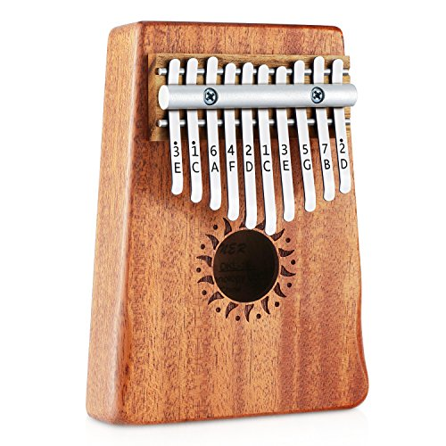 Donner 10 Key Kalimba Thumb Piano Solid Finger Piano Mahogany Body DKL-10 by Donner (Image #1)