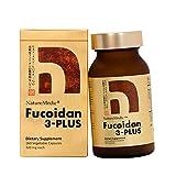 NatureMedic Fucoidan 3-Plus Brown Seaweed Immunity Supplement with Three Type of High Purity Fucoidan Organic Mekabu Fucus Mozuku Agaricus 160 Vegetable Capsules Made in Japan (1Pack)