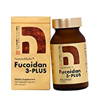 NatureMedic Fucoidan 3-Plus Brown Seaweed Immunity Supplement with Three Type of High Purity Fucoidan Organic Mekabu Fucus Mozuku Agaricus 160 Vegetable Capsules Made in Japan (1Pack)